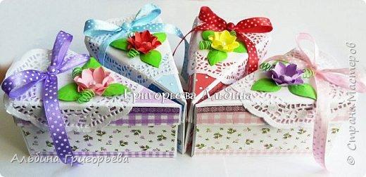 """Серия Коробочек с сюрпризом """"Кусочек тортика""""! Внутри может разместится денежка и сладкий подарок! фото 2"""