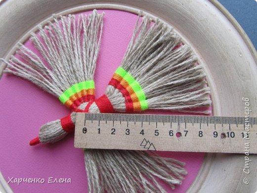 Куклы Мастер-класс Плетение ПТИЧКА-ОБЕРЕГ ИЗ ШПАГАТА Бусины Нитки Шпагат фото 10