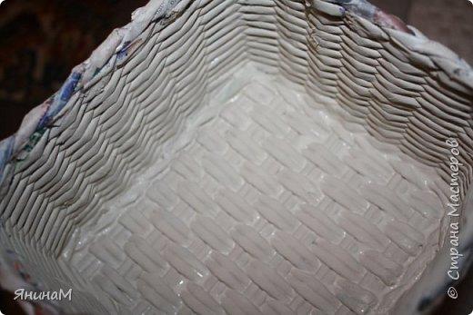 Мастер-класс Плетение Ровное квадратное дно Бумага газетная Трубочки бумажные фото 24