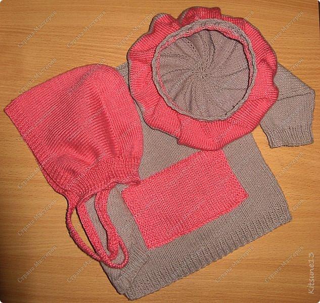 """Добрый день всем жителям и гостям Страны. На весну для моих крестниц Машунь (старшей 7 лет, младшей 8 месяцев) связались шапочки. Первая шапочка вязалась по картинке, так как надо было повторить шапочку, связанную изначально крючком <a href = """"http://www.liveinternet.ru/users/kajo_oschka/post318107157/""""> cсылка. </a> фото 7"""