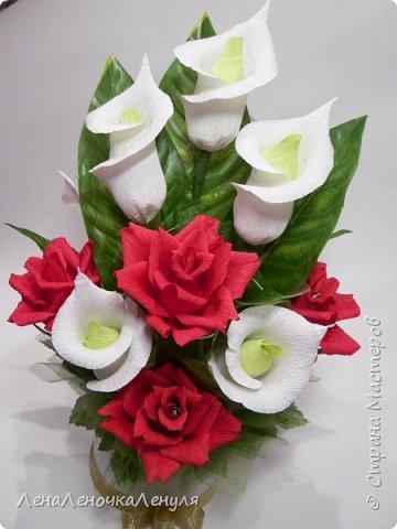 Букет цветов из бумаги гофрированной бумаги