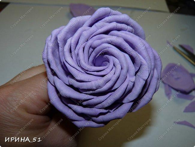 Здравствуйте! представляю Вам Мк по изготовлению розы из фома. фото 18