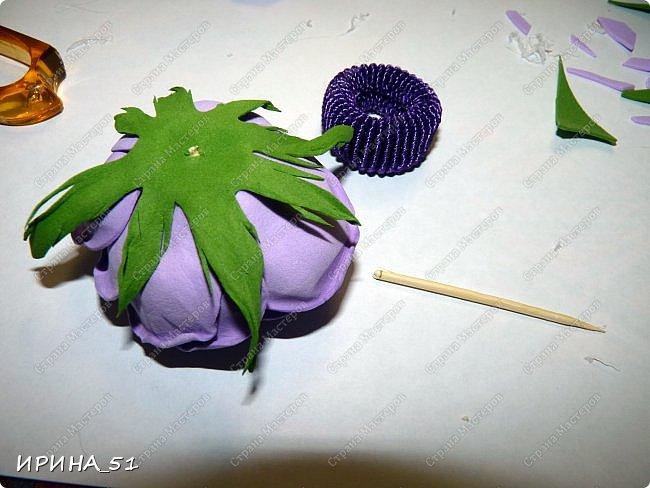 Здравствуйте! представляю Вам Мк по изготовлению розы из фома. фото 23