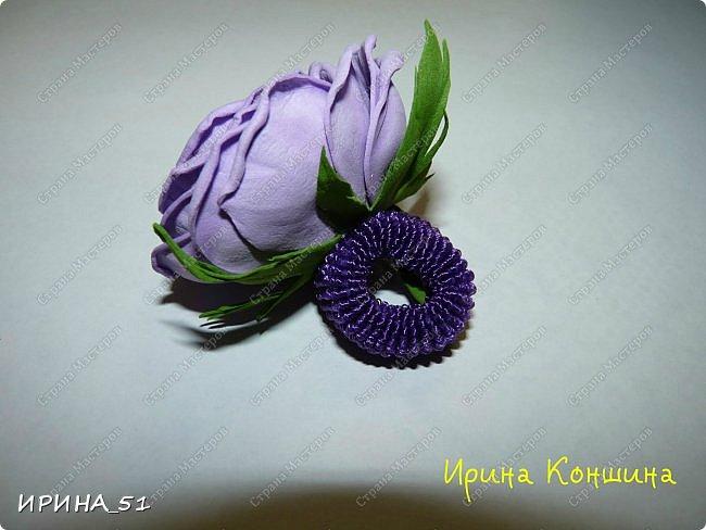 Здравствуйте! представляю Вам Мк по изготовлению розы из фома. фото 25