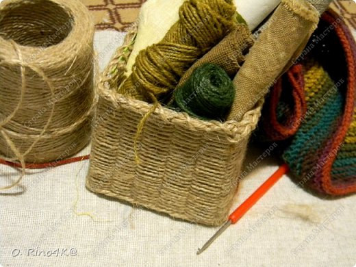 Мастер-класс Поделка изделие Плетение Обещанный МК корзиночки Коробки Шпагат фото 1