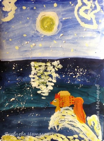 """Воспользовалась опытом Галены из Страны Мастеров и у нас вышли вот такие работы. Первые две рисовали с 6 - летками """"Караван"""" фото 6"""