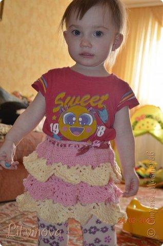 Решила связать юбку для двухгодовалой дочки. Вот что получилось: фото 2