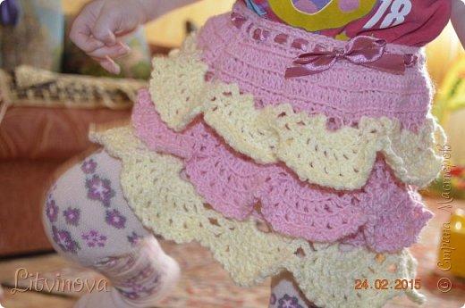 Решила связать юбку для двухгодовалой дочки. Вот что получилось: фото 1