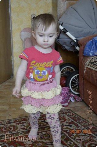 Решила связать юбку для двухгодовалой дочки. Вот что получилось: фото 4