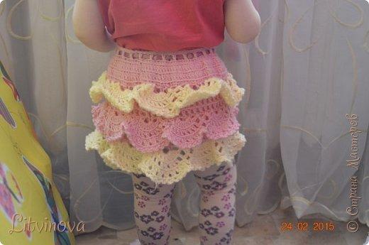 Решила связать юбку для двухгодовалой дочки. Вот что получилось: фото 3