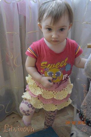 Решила связать юбку для двухгодовалой дочки. Вот что получилось: фото 5