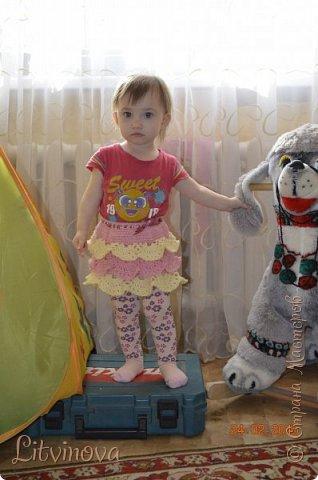 Решила связать юбку для двухгодовалой дочки. Вот что получилось: фото 6