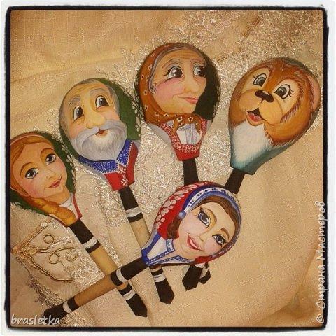 Ложковый театр:  -Маша и Медведь -Снегурочка Автор: Кристина Гусятинская