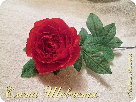 Роза в вазу своими руками