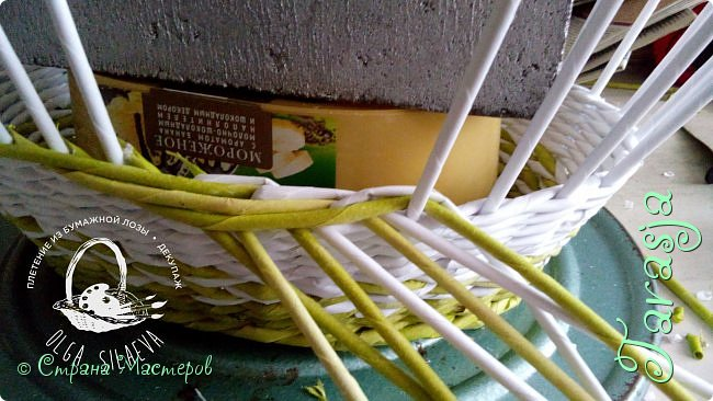 Мастер-класс Плетение Небольшой МК загибки Бумага Бумага газетная Трубочки бумажные фото 6