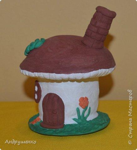 Мастер-класс Поделка изделие Лепка Грибной домик МК Краска Тесто соленое фото 3