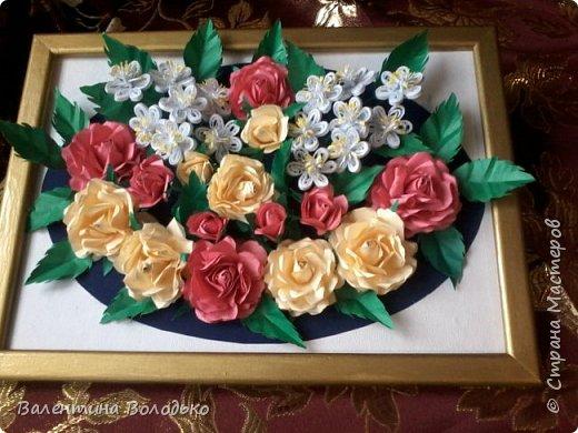 Приветствую вас жители Страны Мастеров.Сделала подарок на день рождения.Хотелось создать нежное ,весеннее панно,смотрите,что получилось. фото 7
