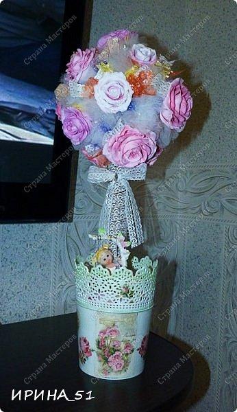 Мастер-класс Флористика искусственная Моделирование конструирование МК Чайно-гибридная роза из фоамирана Фоамиран фом фото 22