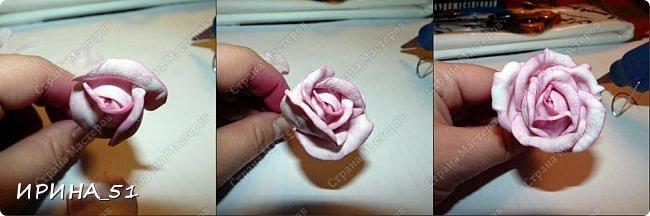 Мастер-класс Флористика искусственная Моделирование конструирование МК Чайно-гибридная роза из фоамирана Фоамиран фом фото 16