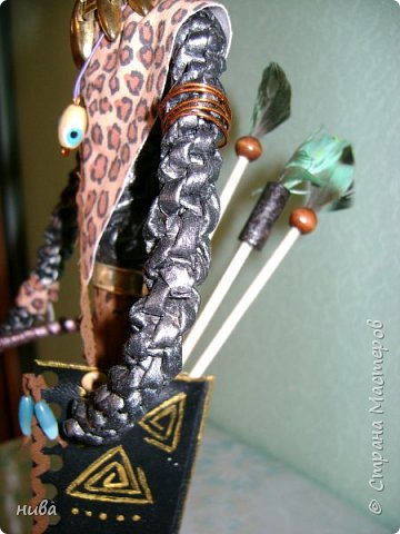 Вот и дождались воинов-добытчиков. Один с копьём, другой с луком и стрелами. Красавцы. Африканки были в предыдущей записи. фото 6