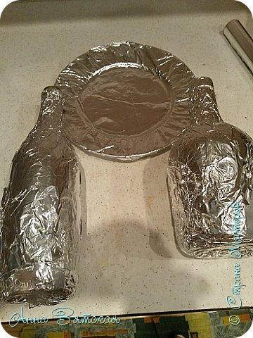 Картина панно рисунок Мастер-класс Лепка Моделирование конструирование Долгострой как я его делала   Гипс Краска Тесто соленое фото 5