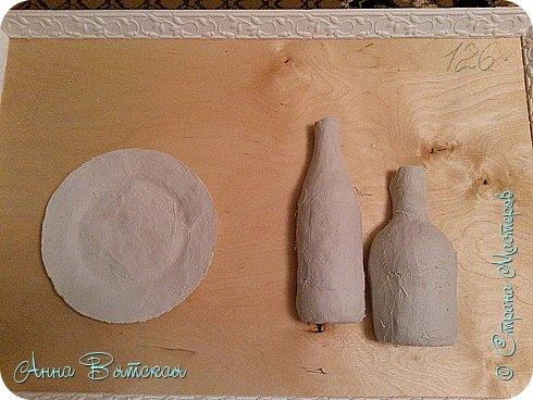 Картина панно рисунок Мастер-класс Лепка Моделирование конструирование Долгострой как я его делала Гипс Краска Тесто соленое фото 11