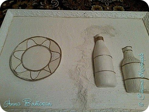 Картина панно рисунок Мастер-класс Лепка Моделирование конструирование Долгострой как я его делала Гипс Краска Тесто соленое фото 19