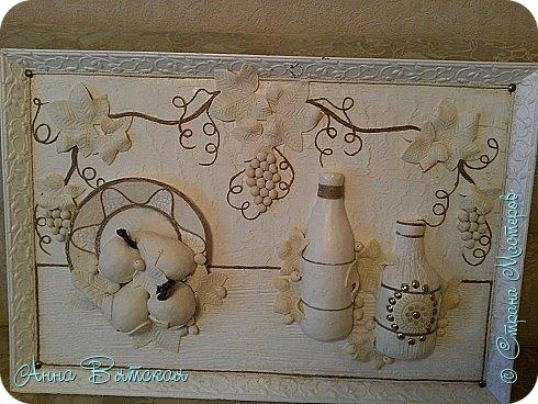 Картина панно рисунок Мастер-класс Лепка Моделирование конструирование Долгострой как я его делала   Гипс Краска Тесто соленое фото 32