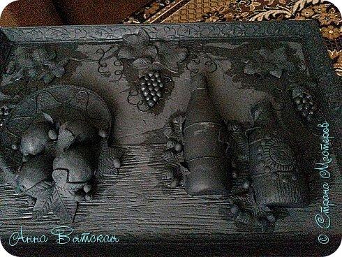 Картина панно рисунок Мастер-класс Лепка Моделирование конструирование Долгострой как я его делала   Гипс Краска Тесто соленое фото 33