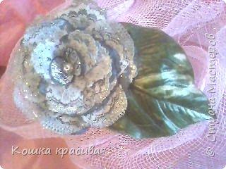 Цветы из ткани фото 1