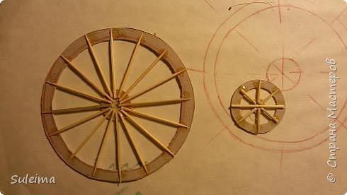 Картина панно рисунок Мастер-класс Аппликация Ассамбляж Ретро велосипед стимпанк Бумага Картон фото 13