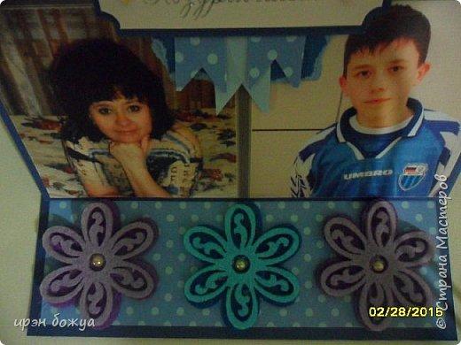 Вот такую поздравительную открытку я сделала маме на 8 марта. фото 5