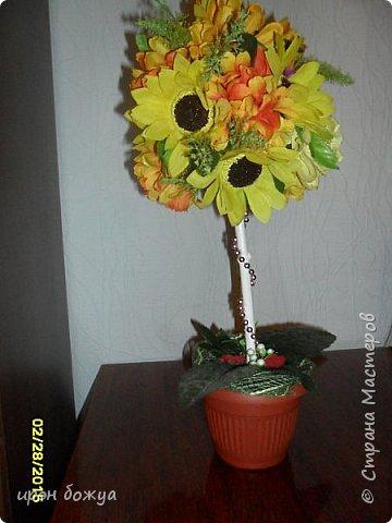 Весна пришла! И у меня родился вот такой солнечный топиарий, который будет подарен на 8 марта женщине-чиновнику. фото 1