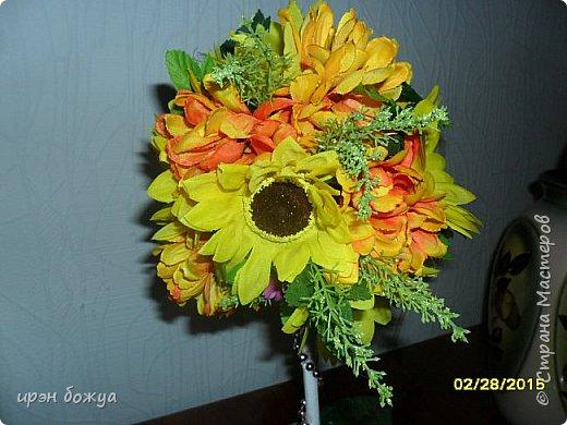 Весна пришла! И у меня родился вот такой солнечный топиарий, который будет подарен на 8 марта женщине-чиновнику. фото 2