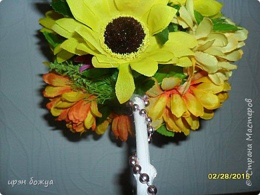 Весна пришла! И у меня родился вот такой солнечный топиарий, который будет подарен на 8 марта женщине-чиновнику. фото 3