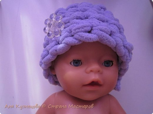 шапочка для куклы беби бон