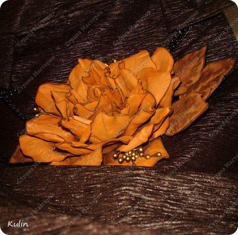 Завтра мероприятие... вот родилась такая роза к платью.... фото 1
