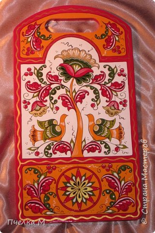 Борецкая роспись комплект на кухню.  фото 3