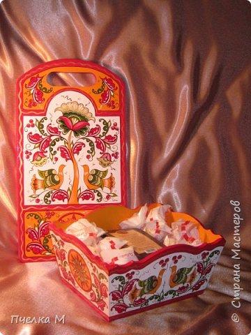 Борецкая роспись комплект на кухню.
