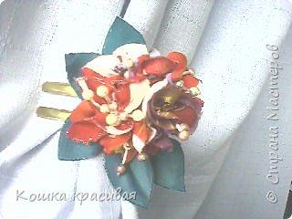 Сегодня я расскажу, как сделать очень простые, но эффектные цветы для заколок и других украшений.  фото 1