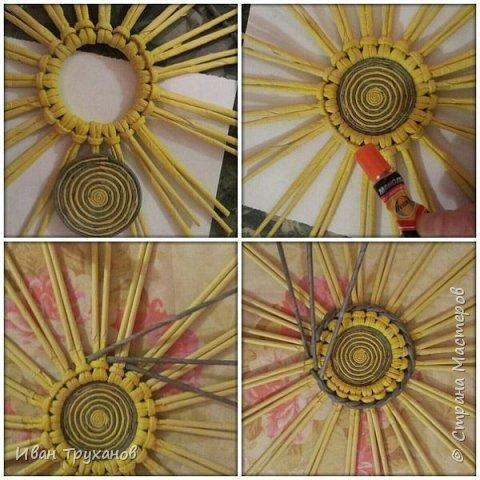 Мастер-класс Поделка изделие Плетение Панно Скромный мк середины Трубочки бумажные фото 3