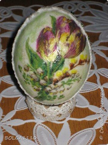 Мастер-класс Поделка изделие Пасха Моделирование конструирование Заготовка для яиц быстро и недорого Клей Салфетки Скорлупа яичная фото 16