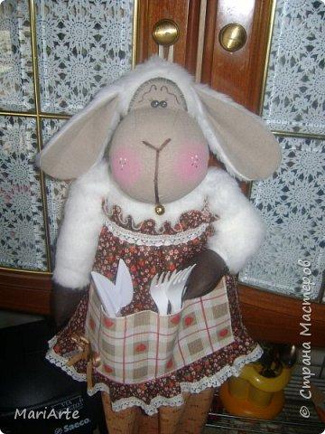 Куклы Мастер-класс Шитьё Овечка пакетница Клей Краска Кружево Мех Нитки Ткань фото 1