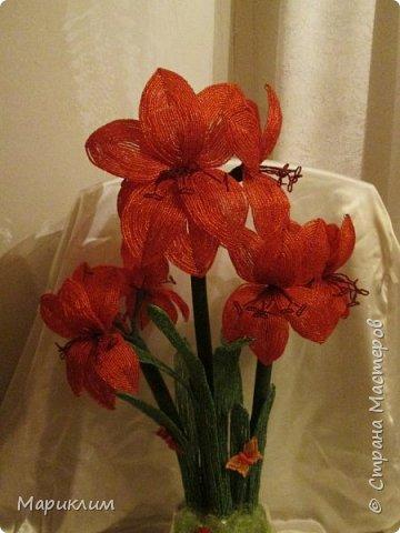 мои цветы из бисера новые работы фото 2