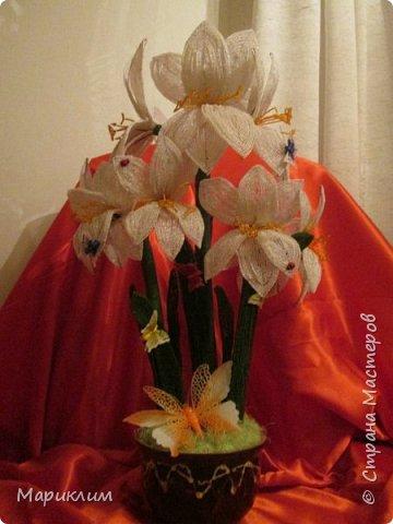 мои цветы из бисера новые работы фото 6