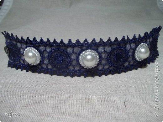 Вот такие браслеты мне захотелось сшить из фетра,кружев и бусин. фото 7