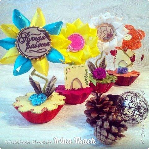 Цветок канзаши (на заказ) фото 3