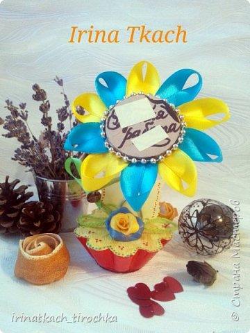 Цветок канзаши (на заказ) фото 8