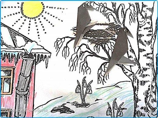 Рисование и живопись Грачи