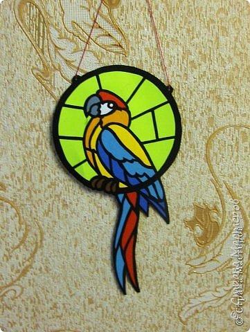 Зеленый попугай (подвеска). фото 7